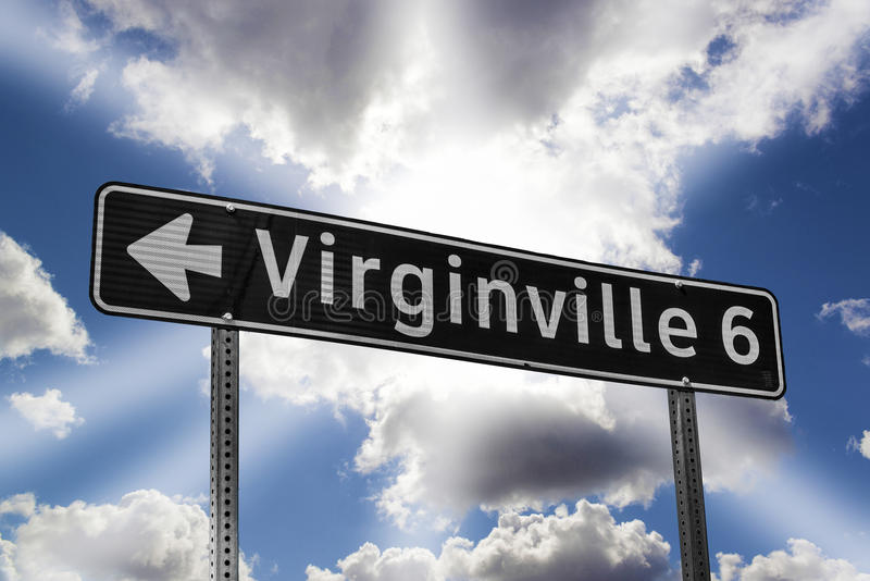 Die Straße Zu Virginville Stockbild