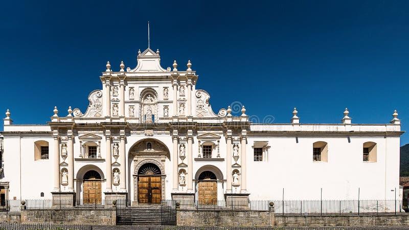 Die Straßen von Antigua, Guatemala lizenzfreies stockbild