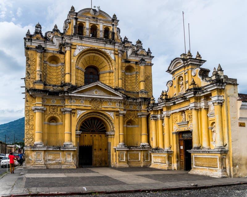 Die Straßen von Antigua, Guatemala stockfoto