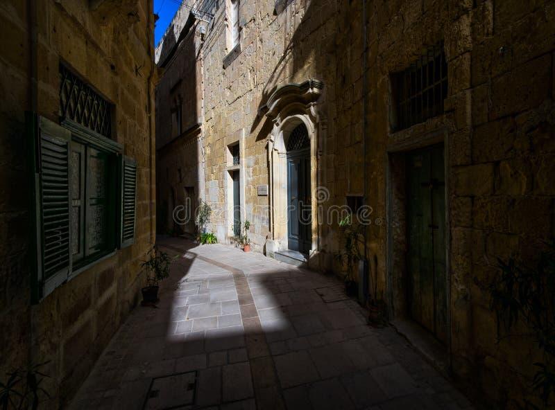 Die Straßen von Mdina malta stockfoto