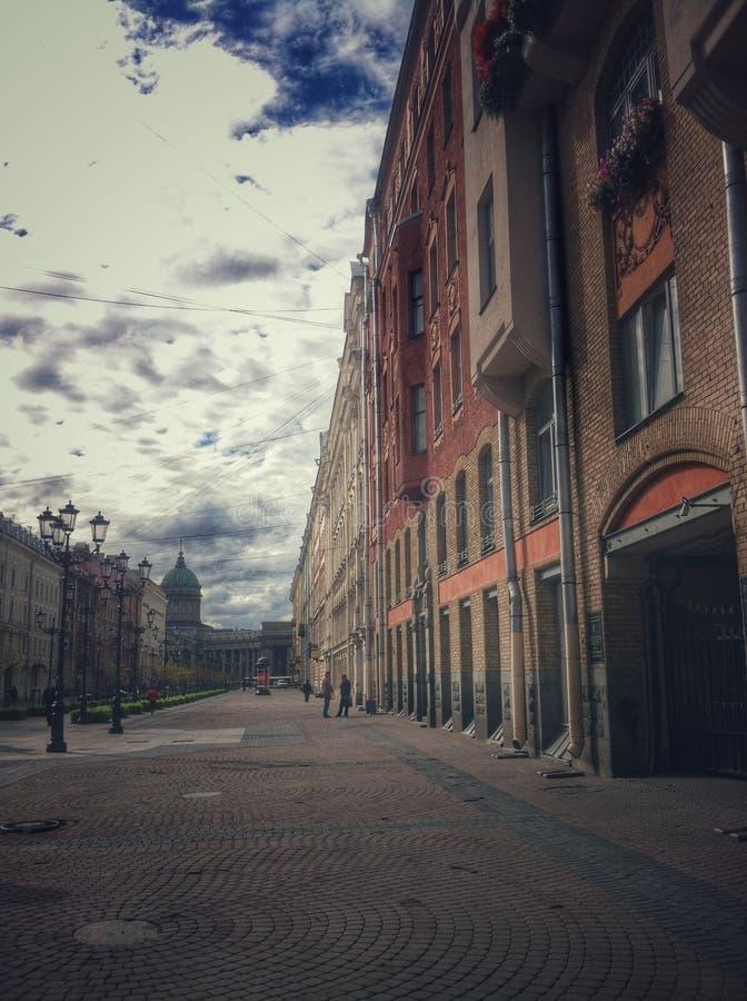 Die Straßen von St Petersburg stockfoto