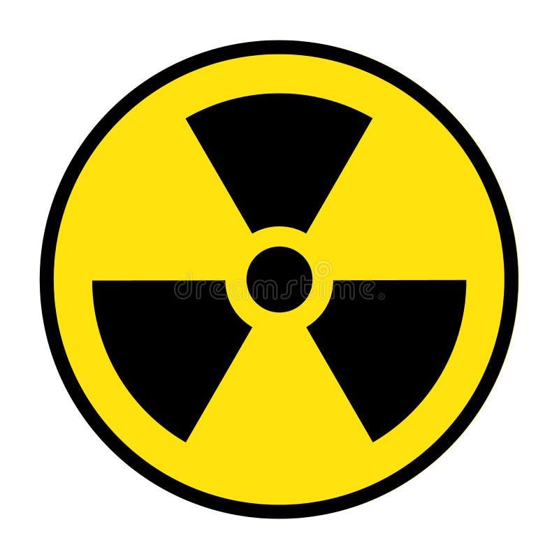 Die Strahlungsikone Strahlungssymbol lizenzfreie abbildung