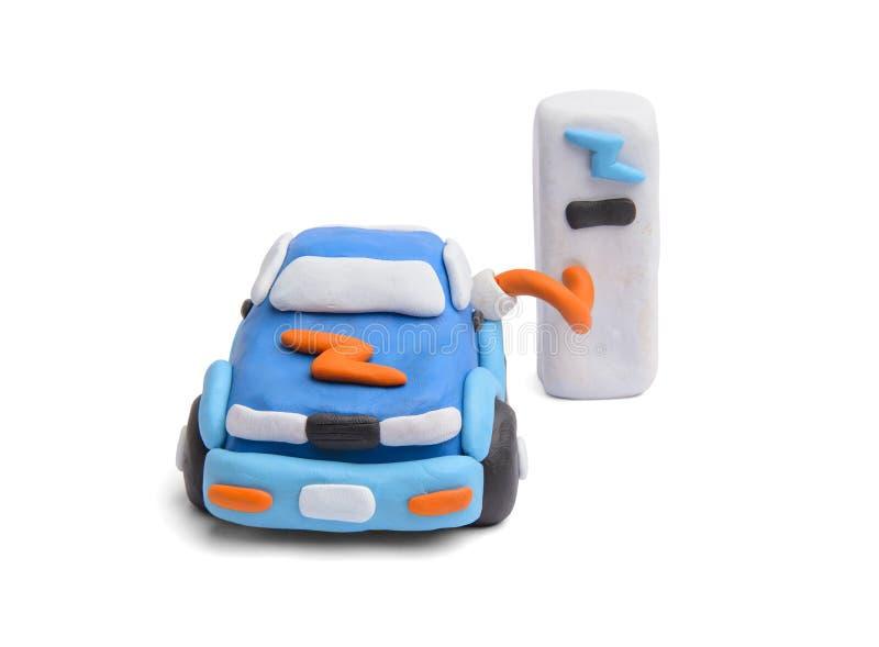 Die Stromversorgung für die Aufladung eines Elektroautos stockfoto