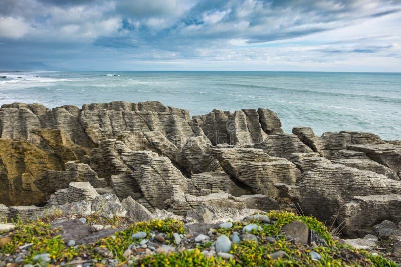 Die Sturm und Pfannkuchen-Felsen stockbild