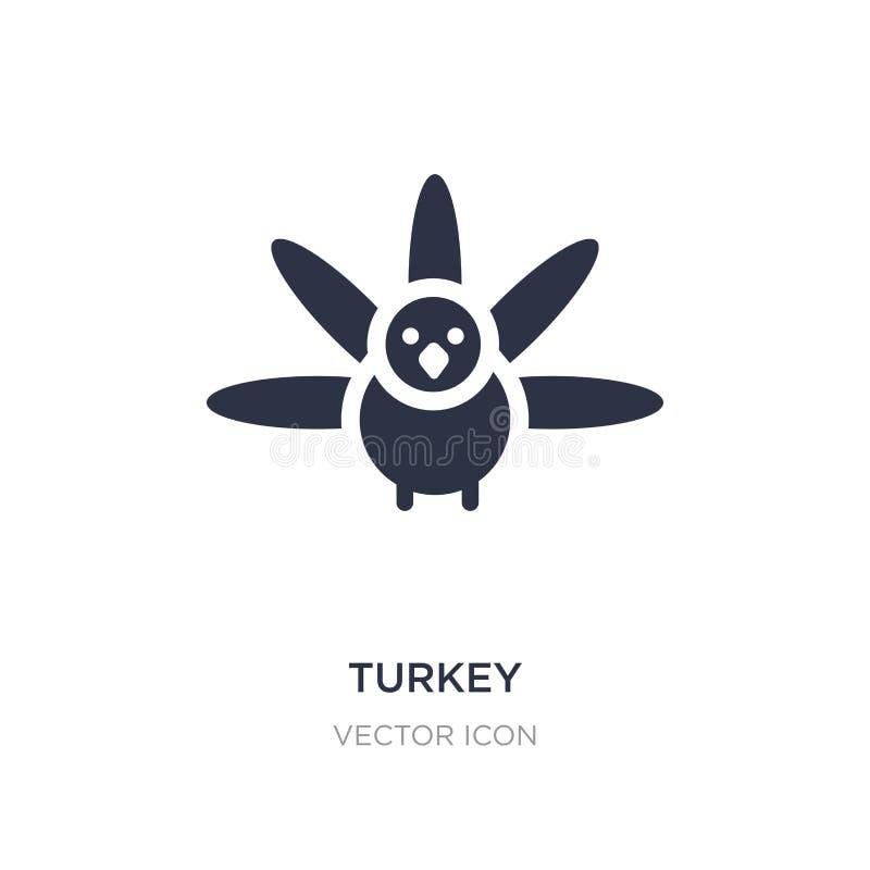 Die Türkei-Ikone auf weißem Hintergrund Einfache Elementillustration vom Danksagungskonzept stock abbildung