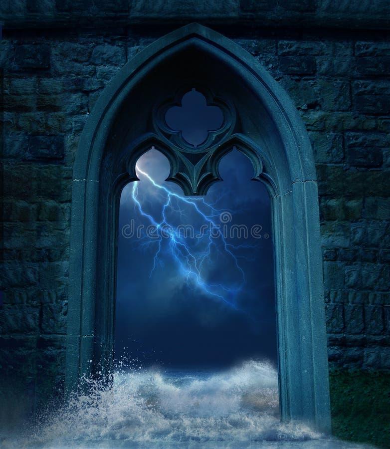 Die Tür stock abbildung