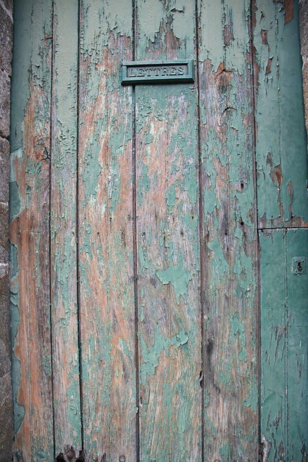 Die Tür, Bretagne stockbild