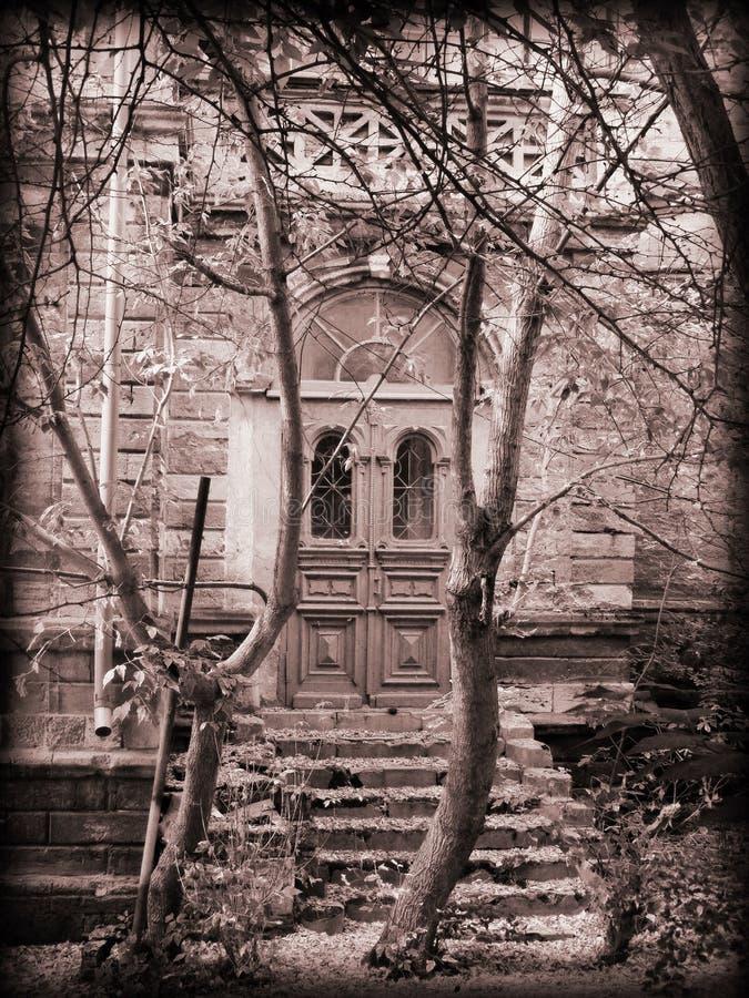 Die Tür zur Vergangenheit stockfotos