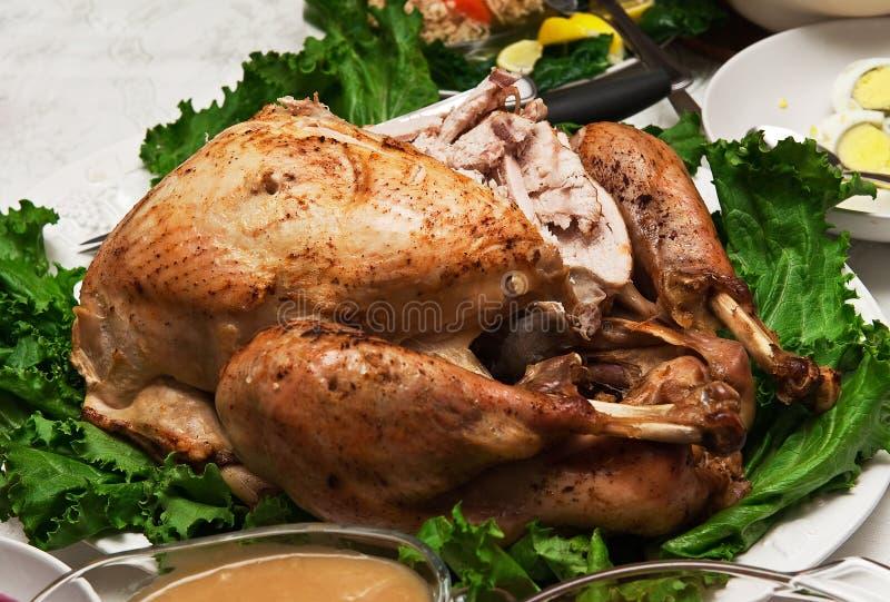 Die Türkei-Abendessen lizenzfreies stockbild
