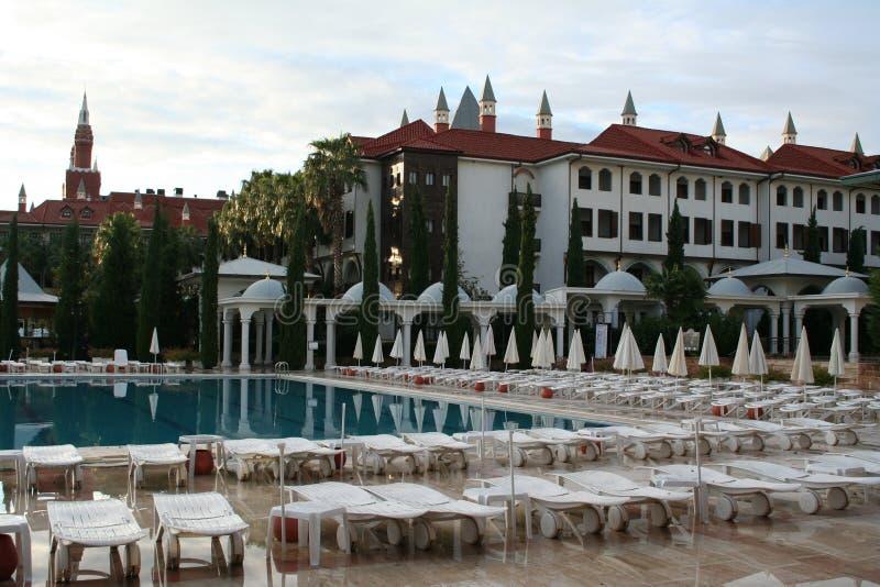 Die Türkei. Antalya. Hotel lizenzfreie stockfotografie