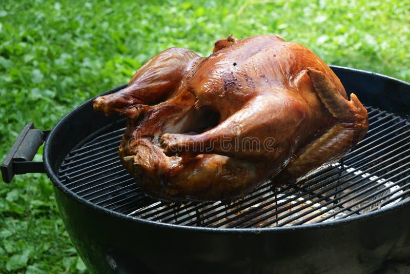 Die Türkei auf Grill stockbild