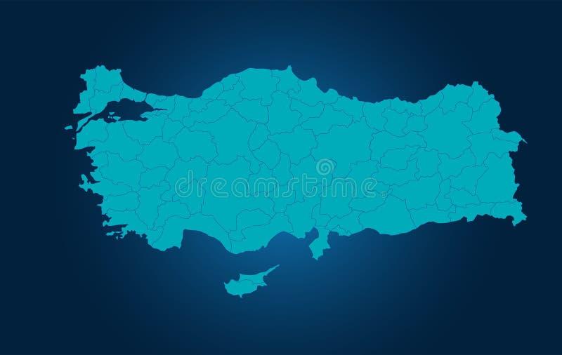 Die Türkei auf Karte lizenzfreie abbildung