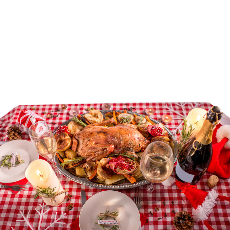 Die Türkei auf Weihnachten verzierte Tabelle stockfoto