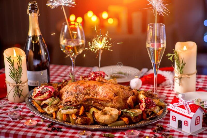 Die Türkei auf Weihnachten verzierte Tabelle stockbilder