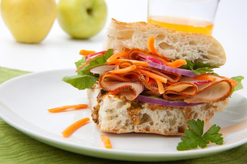 Die Türkei-Brust-Sandwich lizenzfreie stockfotografie
