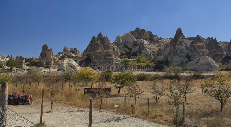Die Türkei, Cappadocia, Felsen, Landschaft, Reise, Anatolien, goreme, Berg stockbild