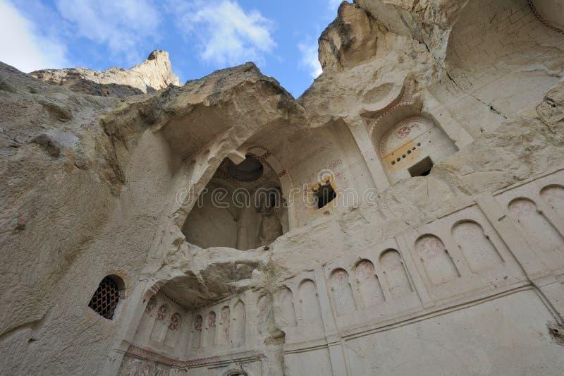 Die Türkei Cappadocia. Goreme (Gereme) Museum der geöffneten Luft stockbilder