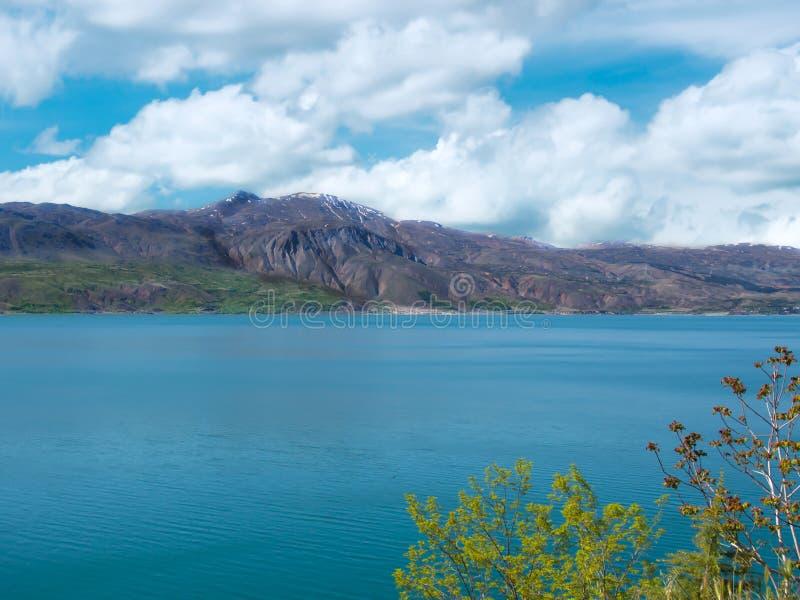 Die Türkei, Elazig Hazar See und Berglandschaft stockfoto