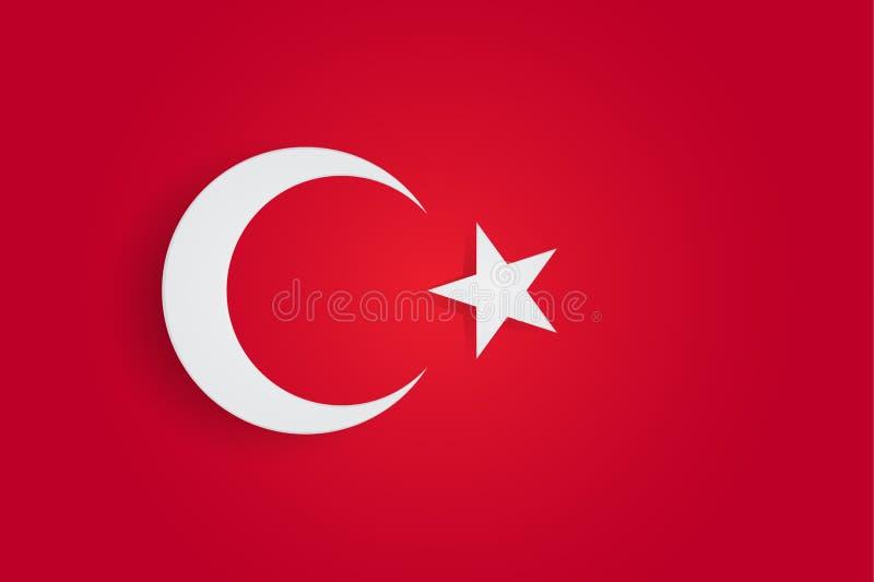 Die Türkei-Flagge, offizielle Farben und proportionieren richtig Die Staatsflagge von der Türkei Zusammensetzung des Papiers lizenzfreie abbildung