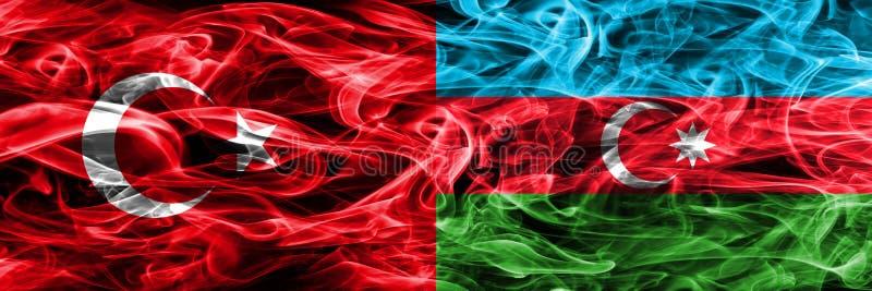Die Turkei Gegen Die Aserbaidschan Rauchflaggen Nebeneinander Gesetzt Turkische Und Aserbaidschan Flagge Zusammen Stock Abbildung Illustration Von Verbundete Kern 123970475