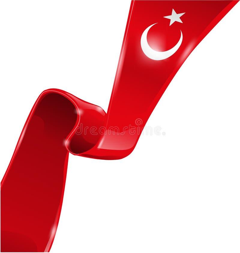 Die Türkei-Markierungsfahne lizenzfreie abbildung