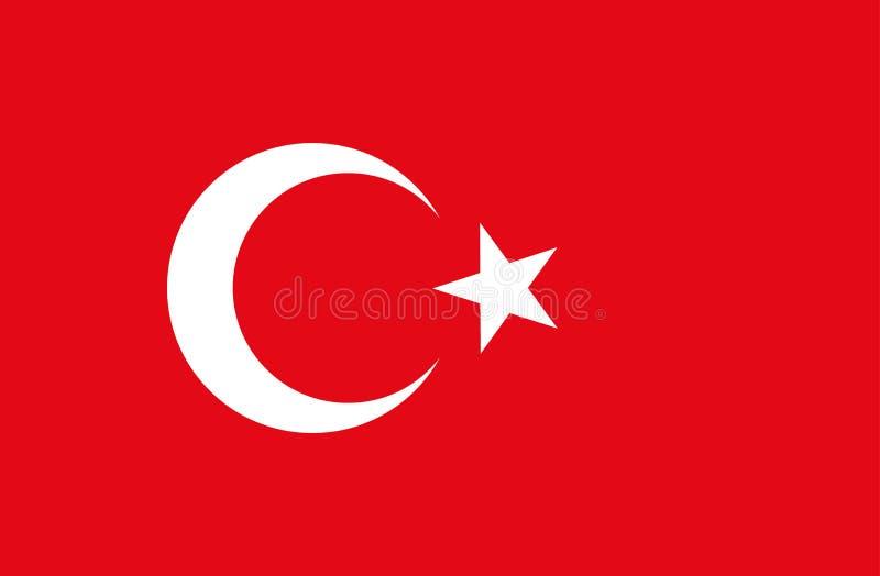 Die Türkei-Markierungsfahne Nationale türkische Flagge vektor abbildung