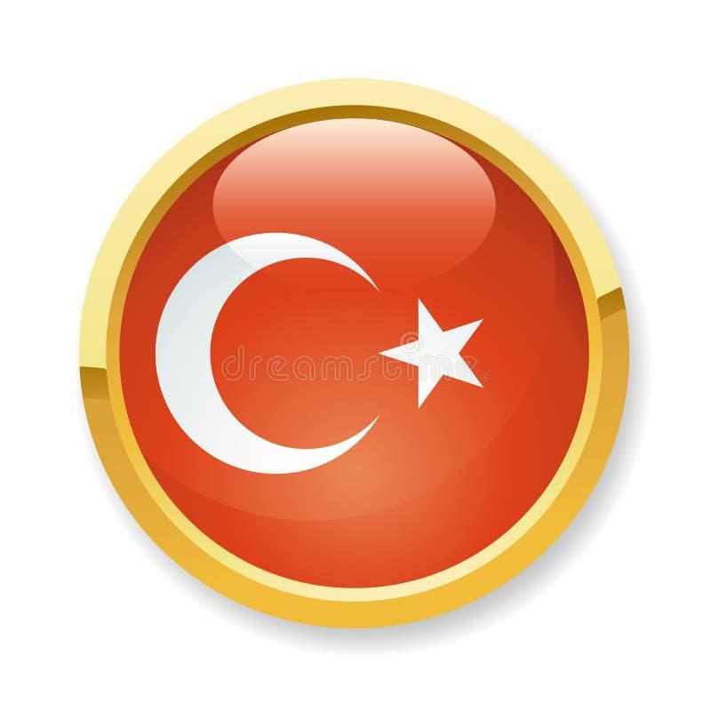 Die Türkei-Markierungsfahnentaste lizenzfreie abbildung