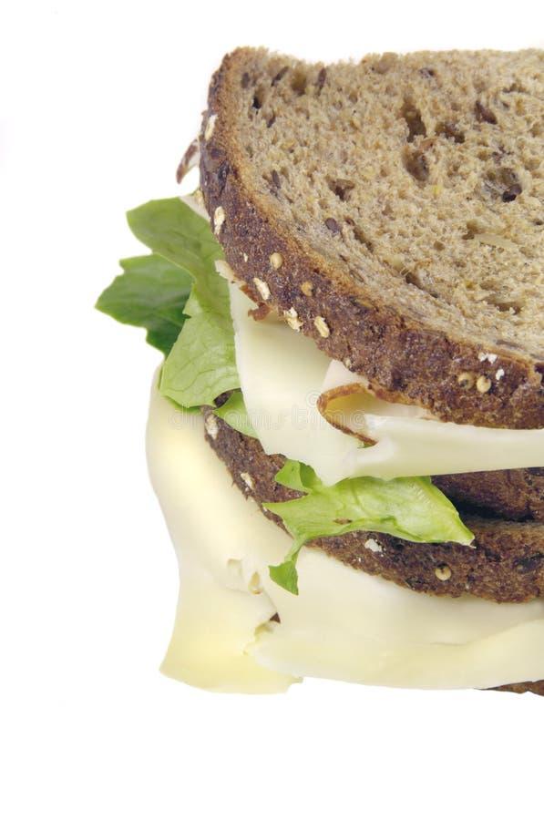 Die Türkei-Sandwich auf vollständigem Korn-Brot stockfotografie