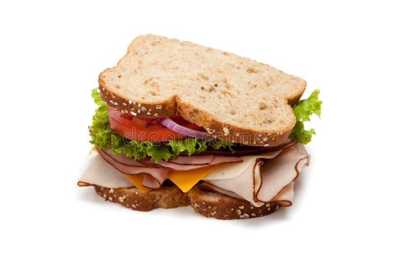 Die Türkei-Sandwich auf weißem Hintergrund stockbilder