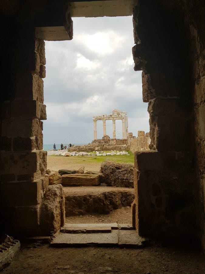 Die Türkei-Tempelod Apollo Side stockfotografie
