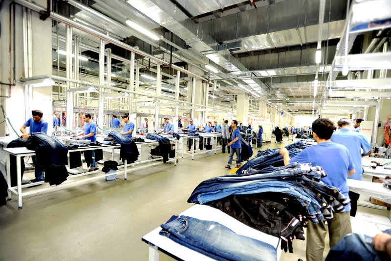 Die Türkei-Textilsektor stockfotos
