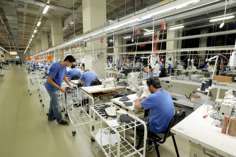 Die Türkei-Textilsektor lizenzfreies stockfoto