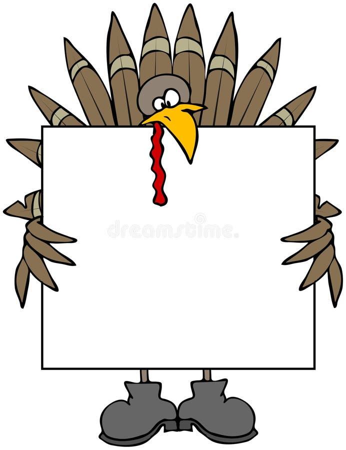 Die Türkei-Zeichen stock abbildung