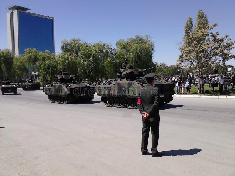 Die türkische Armee, die ISIS kämpft lizenzfreie stockfotos