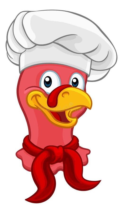 Die T?rkei-Chef Thanksgiving oder Weihnachtskarikatur vektor abbildung