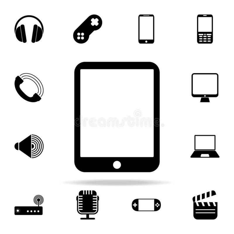 Die Tablettenikone Medienikonen-Universalsatz für Netz und Mobile vektor abbildung