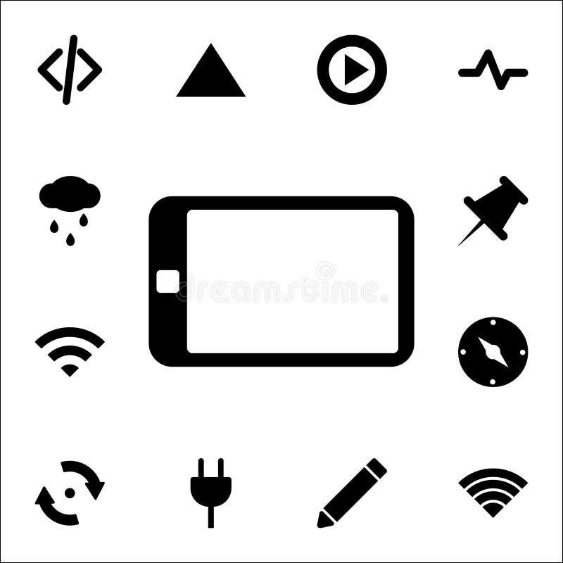Die Tablettenikone Netzikonen-Universalsatz für Netz und Mobile vektor abbildung