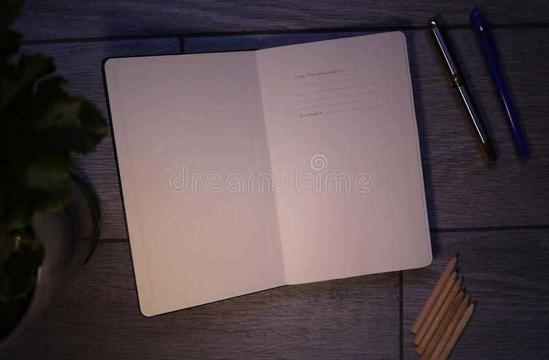 Die Tagebuchaufzeichnungen und die Buchhaltung und andere Aufzeichnungen stockbild