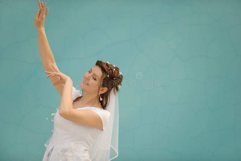 Die Tanzenbraut lizenzfreie stockfotos