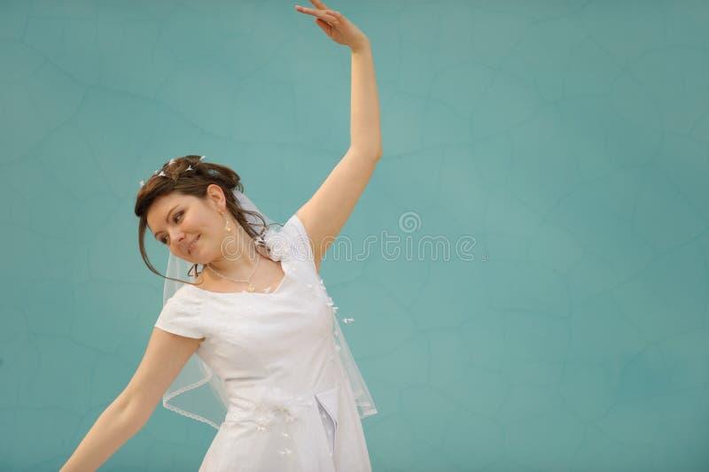 Die Tanzenbraut lizenzfreies stockfoto