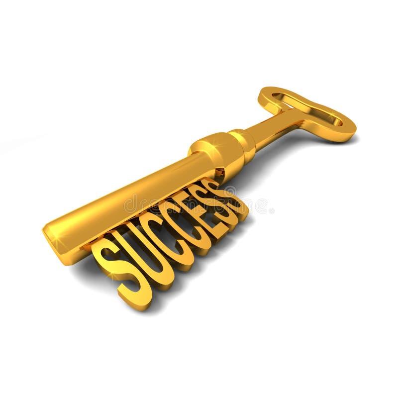 Die Taste zum Erfolg stock abbildung