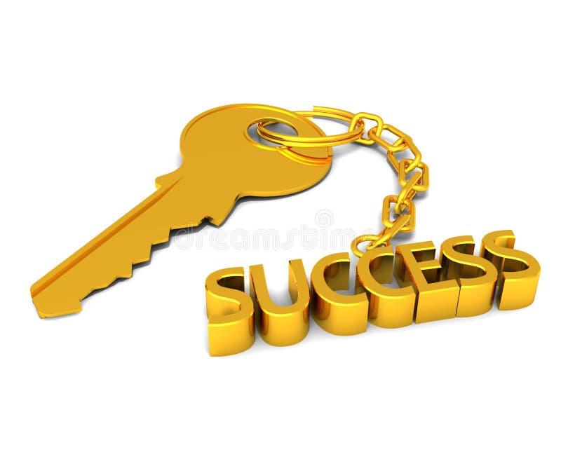 Die Taste zum Erfolg lizenzfreie abbildung