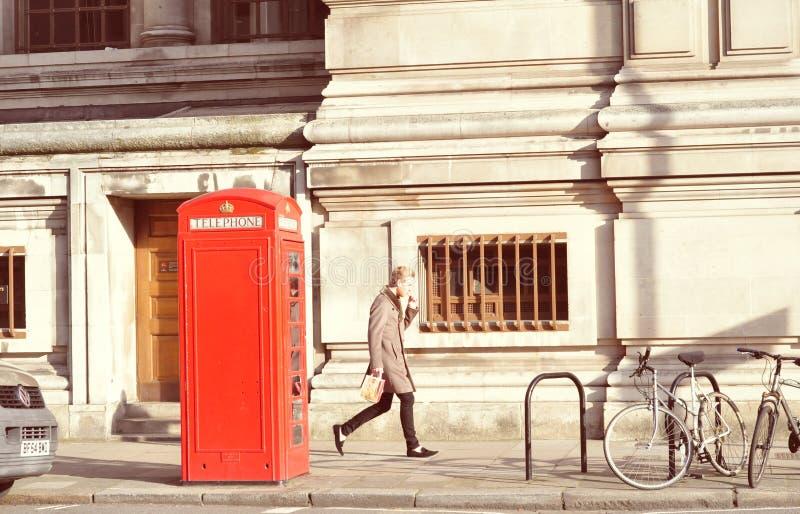 Die Telefonzelle, stockfotografie
