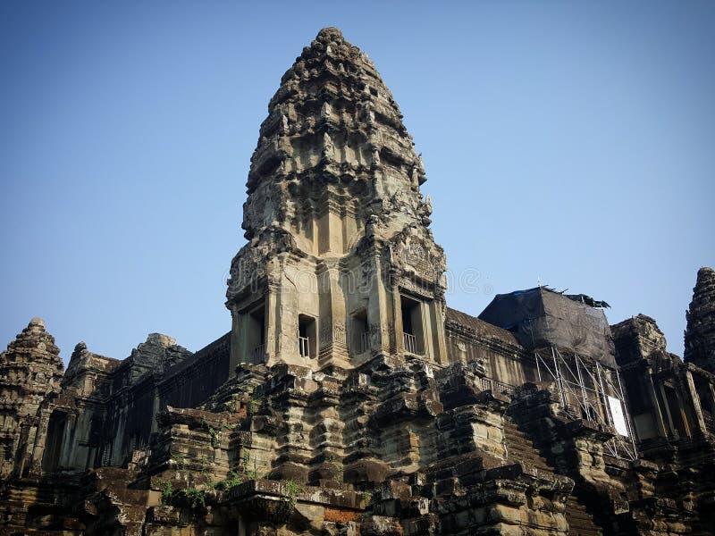Die Tempel in Angkor Wat stockfotografie
