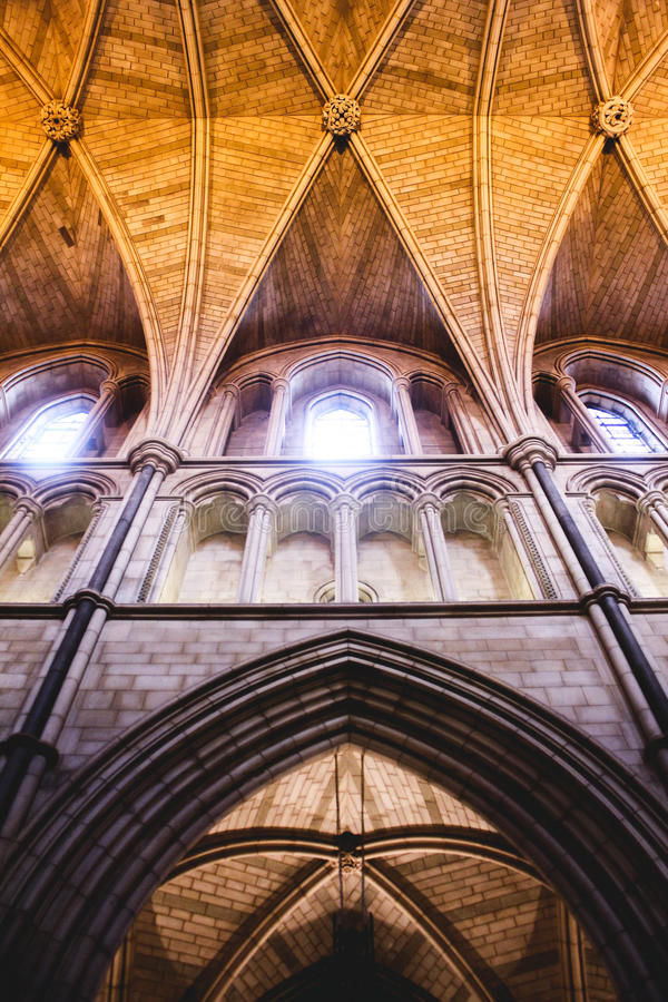 Die Tempel-Kirche London stockbild