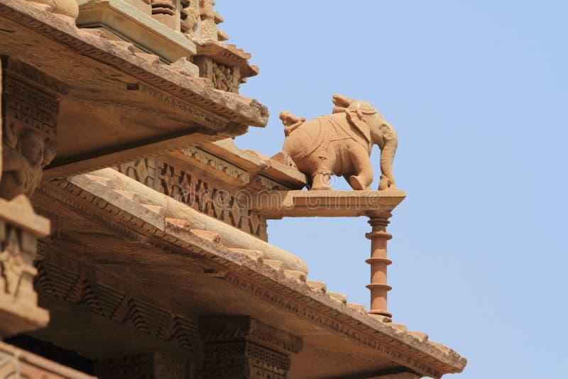 Die Tempel-Stadt von Khajuraho stockbild