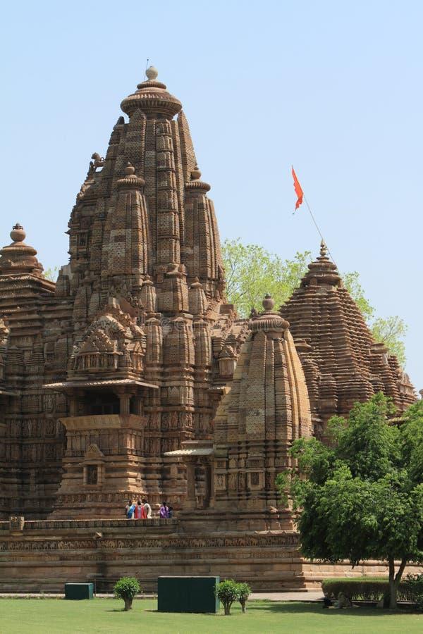 Die Tempel-Stadt von Khajuraho stockbilder