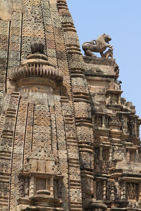 Die Tempel-Stadt von Khajuraho lizenzfreie stockfotos