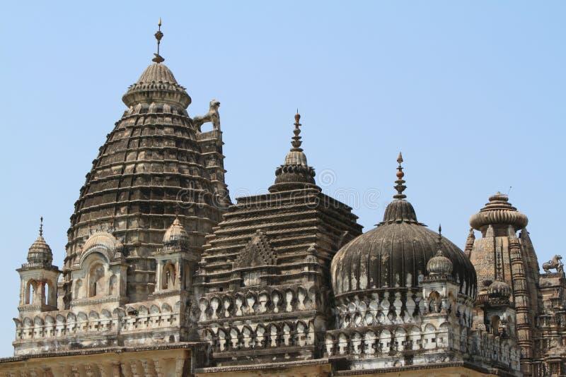 Die Tempel-Stadt von Khajuraho stockfotografie