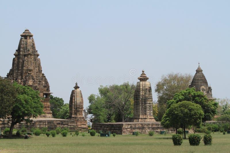 Die Tempel-Stadt von Khajuraho lizenzfreie stockfotografie